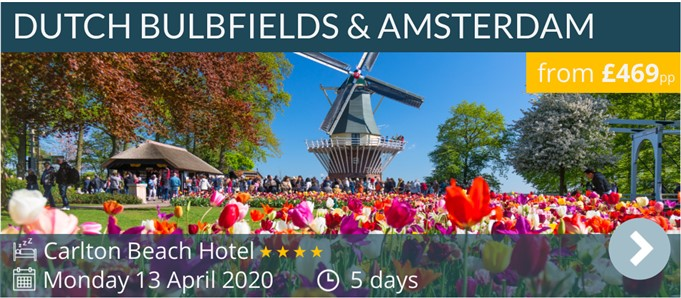 Dutch Bulfields, Scheveningen & Amsterdam escorted coach tour