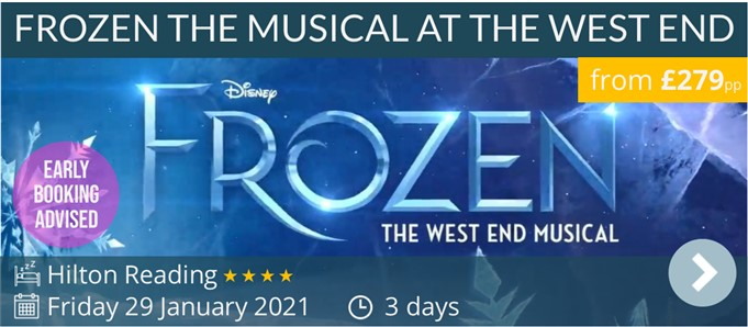 Frozen The Musical at the West End weekend break by coach