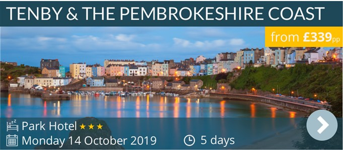 Tenby & The Prmbrokeshire Coast escorted Coach Holiday