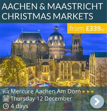 Aachen & Maastricht Christmas Markets escorted short break by coach