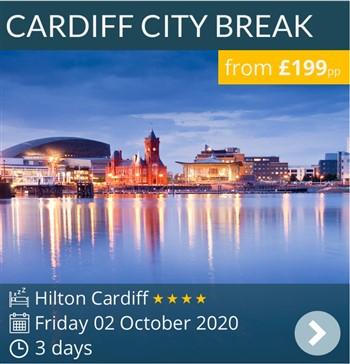 Cardiff Weekend Break - 4* Hilton Cardiff - 3 days from £199pp