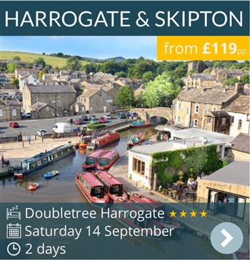 Harrogate & Skipton Weekend Break by coach