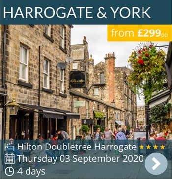 Harrogate & York 4 day break - 4* Hilton Doubletree Harrogate