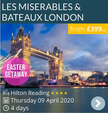 Les Miserables & Bateaux London Long Weekend Break