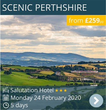Scenic Perthshire escorted coach holiday with drinks package