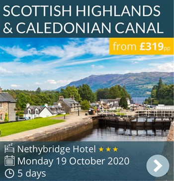 Scottish Highlands & The Caledonian Canal escorted coach holiday November 2020