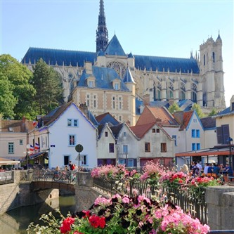 The attractive city of Amiens in northern France