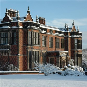 Beautiful Arley Hall near Northwich in the snow