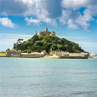 Enchanting St Michael's Mount at Marazion in the beautiful county of Cornwall