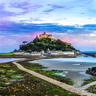 St Michael's Mount at Marazion in the beautiful county of Cornwall