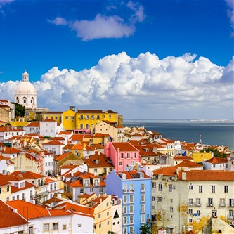 Portugal's Capital City of Lisbon on the River Tagus