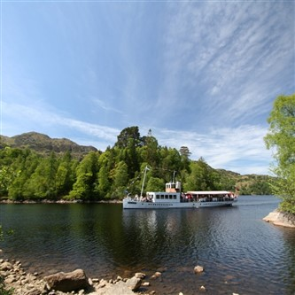 steamship on Loch Katrine in Scotland