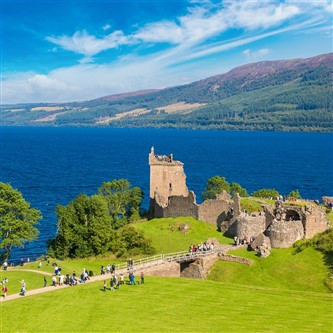 Loch Ness on a sunny day