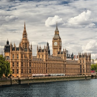 The Houses of Parliament at Westminster in London