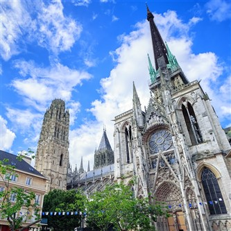 Striking Rouen Cathedral in northern France
