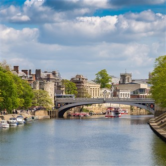 The River Ouse in York on a sunny day