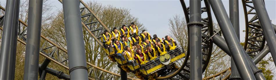 The Smiler rollercoaster at Alton Towers in Staffordshire