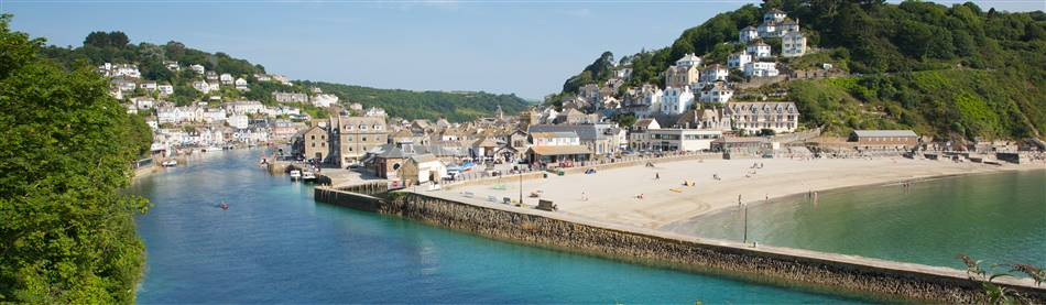 The popular fishing village of Looe on the stunning Cornish Coast