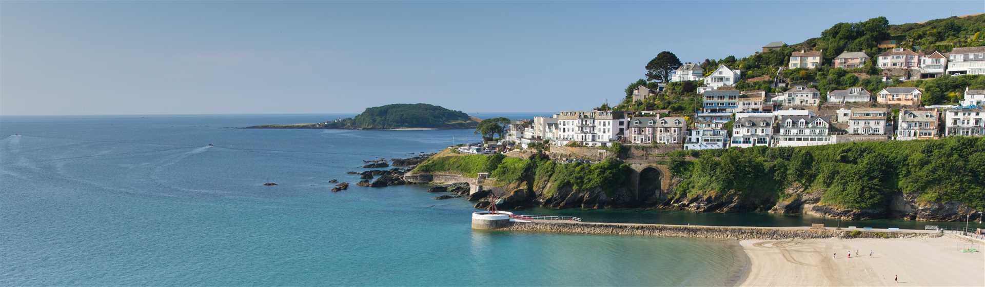 The popular fishing village of Looe on the stunning Cornish Coast