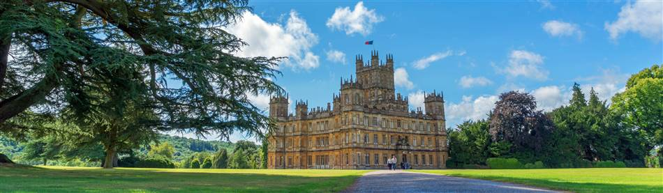 Highclere Castle in Hampshire, the real Downton Abbey