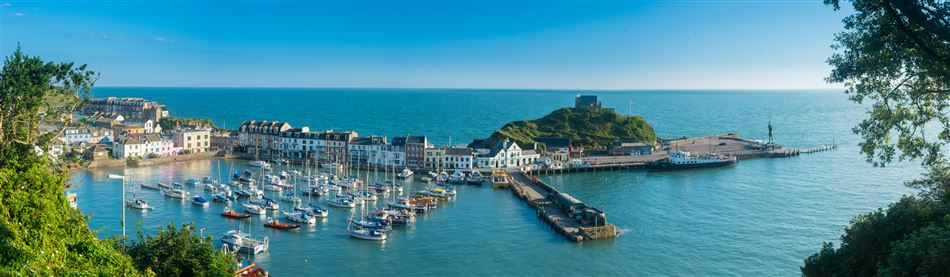 The pretty fishing town of Lynmouth in north Devon