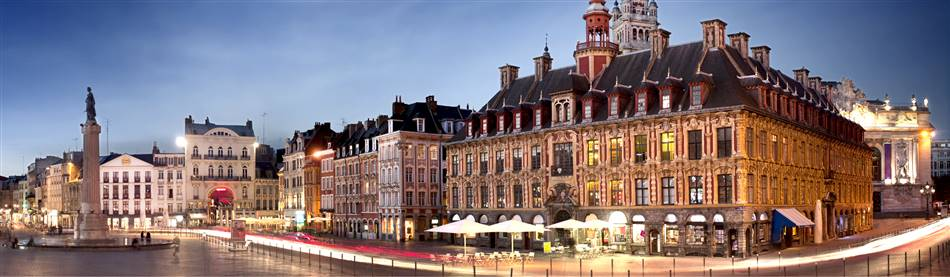 Early evening in the cosmopolitan city of Lille in northern France