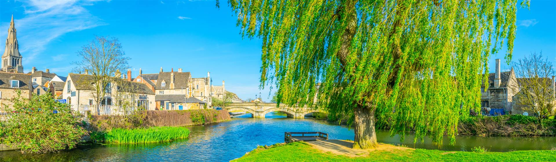 The beautiful riverside town of Stamford